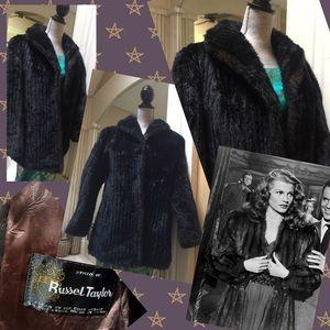1950s Faux Fur Pinup Glam Coat Russel Taylor M/L